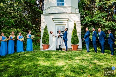 William Paca House ride della cerimonia nuziale all'aperto