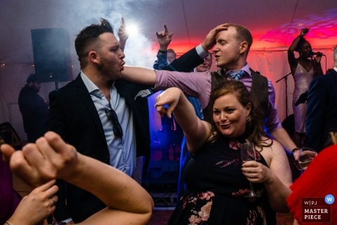 Roseleigh wedding reception photograph of guest partying on the dance floor
