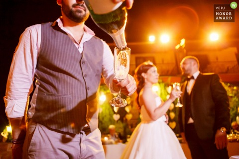 Veria - Lozitsi wedding reception image during the Toasting