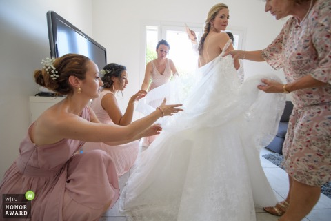 Aix en Provence, France , Moulinde la recense | getting ready picture of the Bride