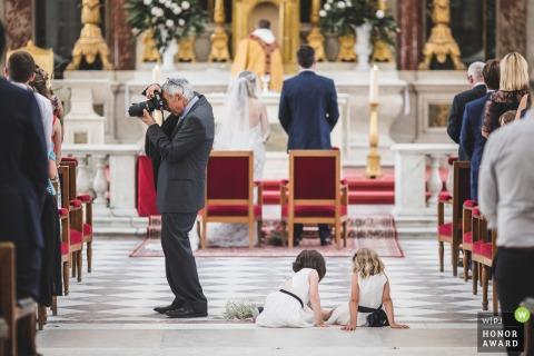 Cathédrale des Invalides - Paris wedding photo of the ceremony occupation