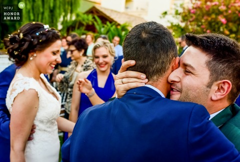 Reception in restaurant in Lorca - Spain wedding photos | Moments of emotion after the wedding
