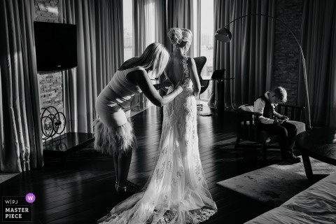 Bernie Richardson, of , is a wedding photographer for