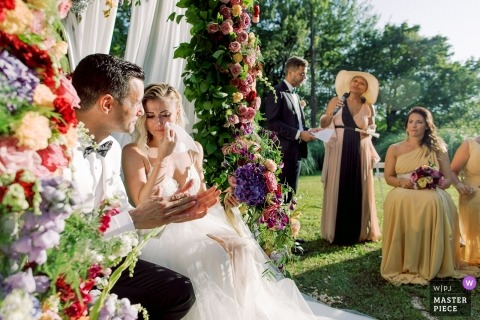 Bastide de Puget, Marsylia Zdjęcia ślubne | Łza panny młodej podczas przemówienia matki