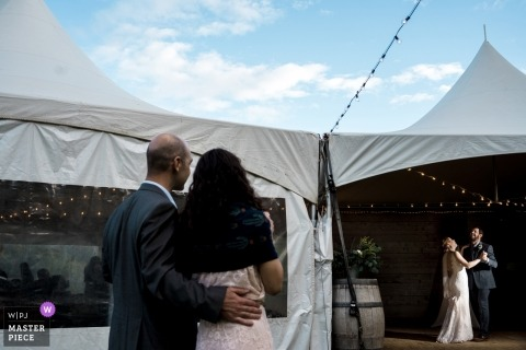 Photography of Father daughter dance at wedding reception at Brown Family Homestead
