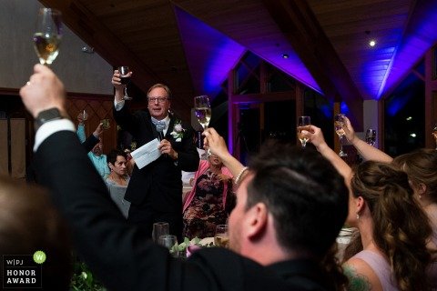 Edgewood Tahoe, NV wedding photo | Father of the toast