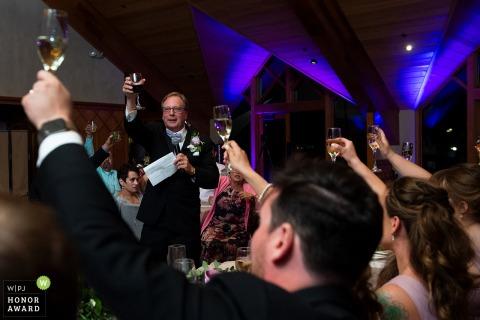 Edgewood Tahoe, NV Hochzeitsfoto | Vater des Toasts