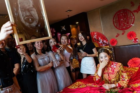 XiangJie Hao, of , is a wedding photographer for