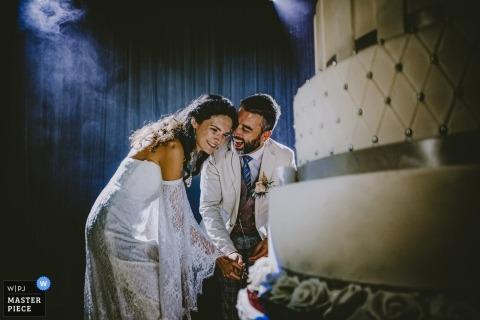 Marriot Asia Hotel Istanbul Trouwlocatie Fotografie vanaf caketijd met de bruid en bruidegom
