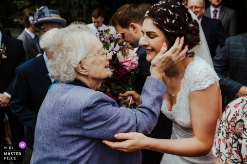 St Mary's the Virgin Church, Chiddingstone, Kent - Ceremony venue photo - All the feels for the Bride and her Nan
