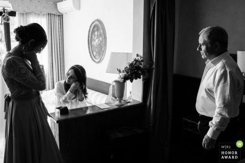 Casale di Polline Bracciano Lake wedding venue photography | the Bride getting ready