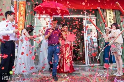 Fujian family pictures on wedding day | End of ceremony