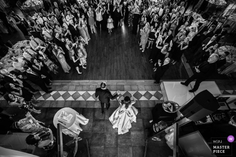 Liberty House, New Jersey Wedding Venue Photos | Bride and Groom are introduced into the reception
