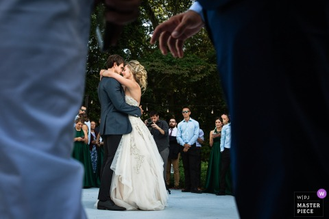 New Jersey Bride and Grooms' first dance together - Wedding Reception Photography