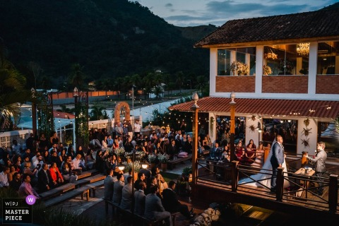 Vila Monsaraz - Rio de Janeiro - Brazil Wedding Venue Photography | When all the guests are in the same photo.
