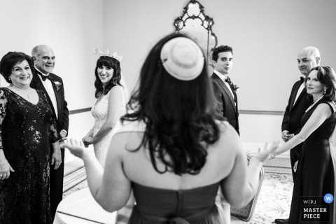 Fairmont SF wedding photography in black and white
