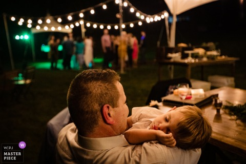 Stryker, Montana Wedding Photography - asleep kid during reception