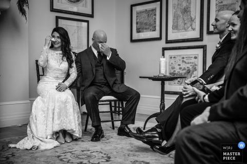 新罕布什爾州布雷頓森林,華盛頓山酒店-婚禮儀式的眼淚攝影
