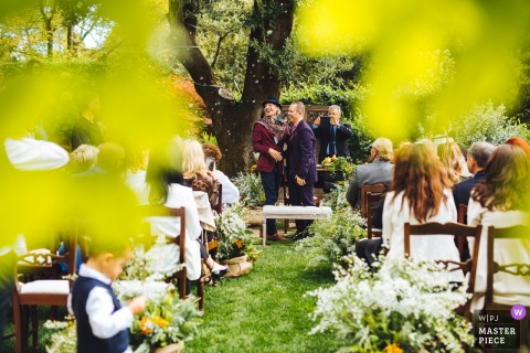 Outdoor Ceremony Location - Fara Sabina- Italy - Photography at the wedding - The end of the ceremony