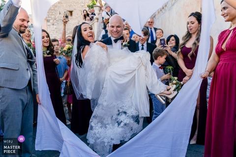 Taormina Photographie | Après la cérémonie de mariage avec les mariés