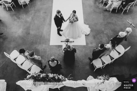 Lörrach, Germany Wedding Reportage Photos | Moment of the ceremony photographed from above