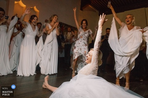 Wedding Photographer for Abbaye de Talloires, Annecy, France | The bride became crazy during the party!