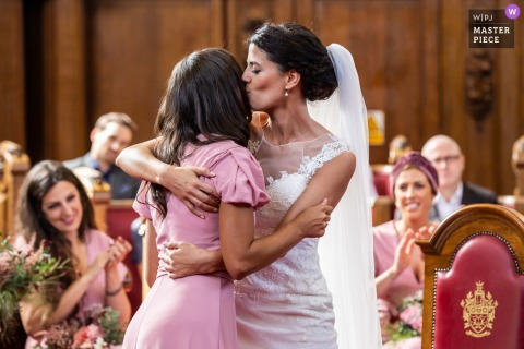 Photography showing Family love at Islington Town Hall, London wedding ceremony