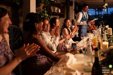 Villa Casa Bruciata Perugia Italy wedding venue photo during the Groom's speech