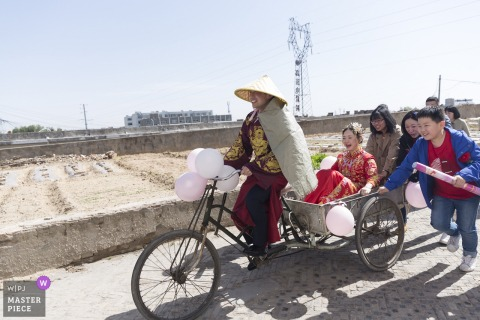Shaanxi Wedding Photography - Wedding car / bike with the bride