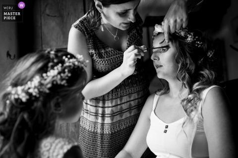Fotografía de boda Turenne - La novia durante la preparación
