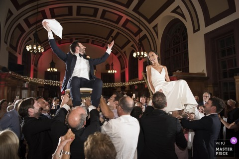 Celebrate Snug Harbor - wedding photos of the bride and groom during hora