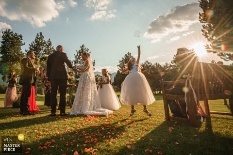Pirin Golf Club, Razlog, Bulgaria wedding photography in the sunshine