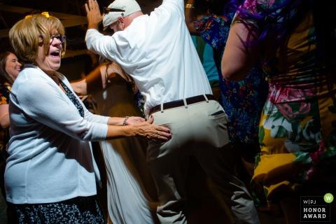 Omaha, NE wedding reception photo - Dance floor squeeze