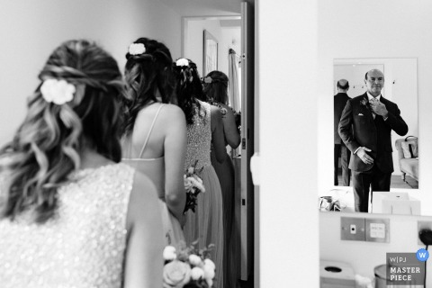 Farbridge, Chichester, West Sussex, UK wedding photographer — Father of the bride before the ceremony