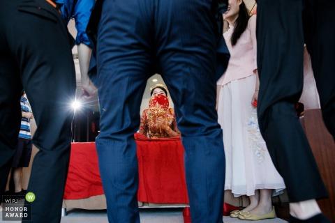 Fujian, China Wedding Photojournalism shot of the bride, groom and groomsmen