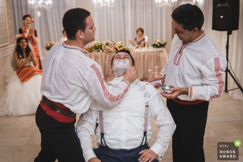 Kranevo, Varna wedding reception venue photo: Bulgarian ritual-shaving the groom