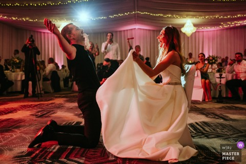 Hotel Marinela, Sofia, Bulgaria wedding venue pictures - Taking off the garter