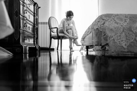 Maison de la mariée à Palerme, Italie - Reportage de mariage - Photos de préparation pour la mariée en Sicile