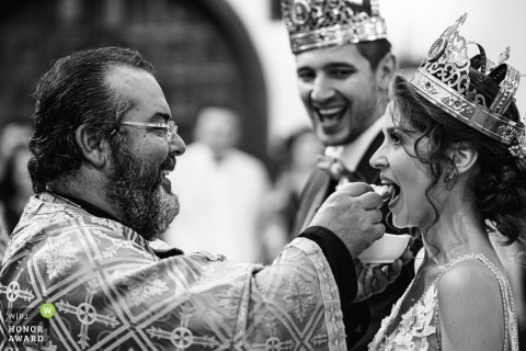 St. Paraskeva church, Sofia, Bulgaria | Photo: The ceremony, groom, bride, crowns
