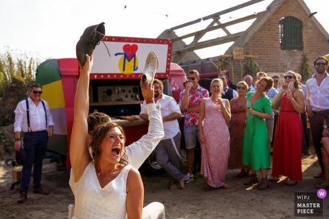 Voorthuizen - Photographe de mariage Pays-Bas - Photos du jeu de chaussures