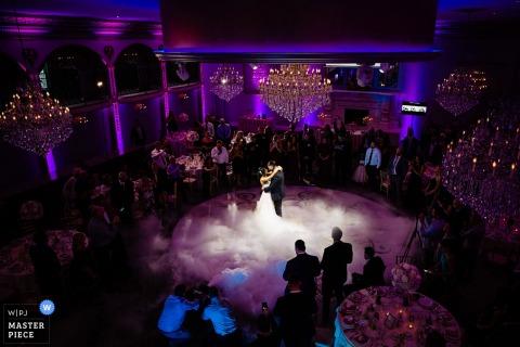 Fotos del lugar de la boda de Luciens Manor: primer baile en la nube.