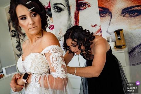 KonstanzWedding Photography - Bride Getting ready at the hair dressers