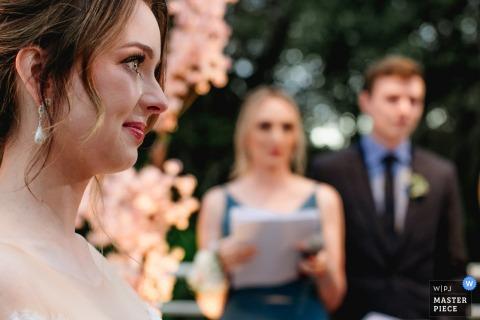 Hotel Weiand Lajeado Brasil trouwreportages van buitenceremonie met tranen van emotie