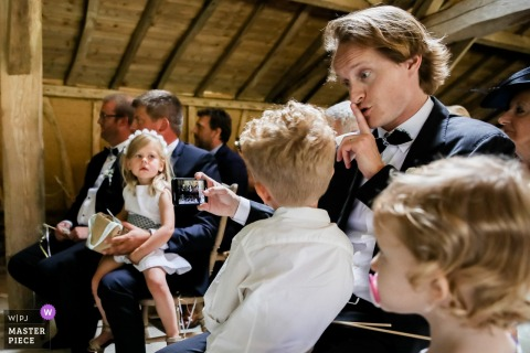 Wedding Ceremony Pictures of Kids - France |  Let's play music !