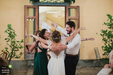 Ceremony in Lucca, Trebbiolo Relais, Italy | Wedding Photo of family happiness!