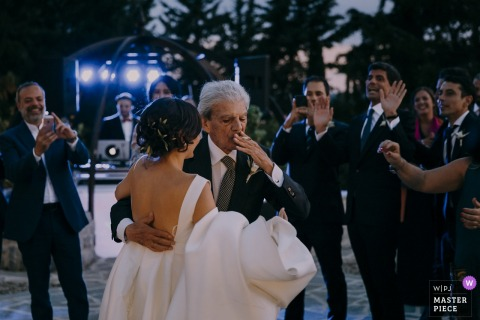 Reception Venue, Tenuta Il Verreno, Tuscany wedding photographer | The first love is never forgotten! Dad and daughter dance.