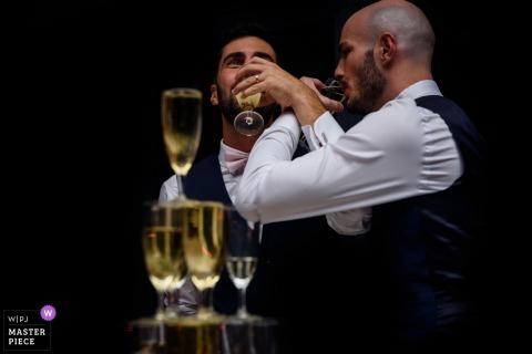 法蘭西島大區接待攝影-喝香檳
