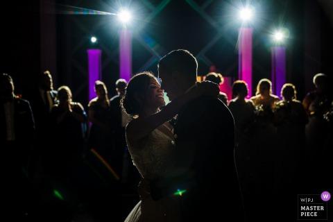 Photographie du lieu de réception à NJ - Première danse pour les jeunes mariés