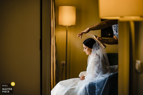 Turkey Mersin Hilton Hotel wedding photography of the Bride getting ready
