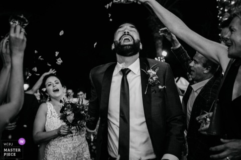 Magnolia, Al Qasr Hotel Dubai Wedding Venue Photography of the Confetti Entrance